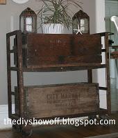 vintage cart, crates