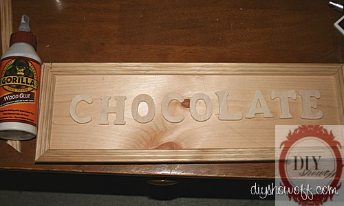 do it yourself chocolate wood sign, Easter accent