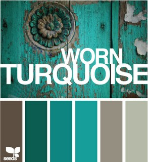 turquoise family room inspiration