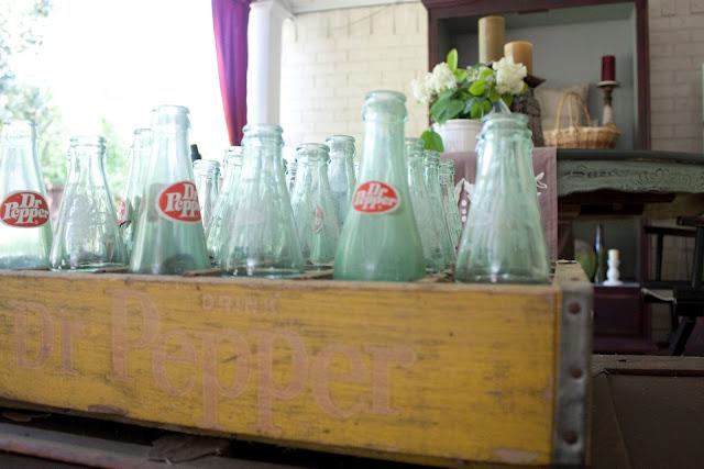 old crate, old bottles