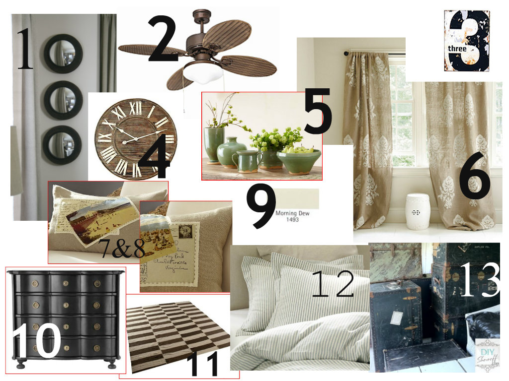 farmhouse bedroom design board