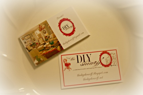 DIY Show Off blog business cards