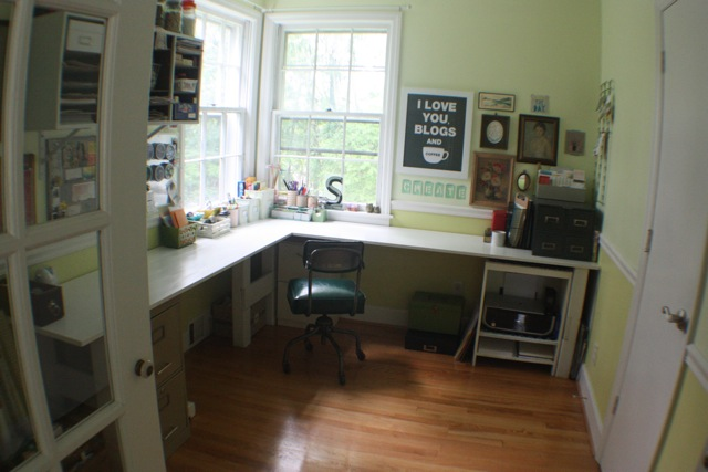 vintage craft room/office