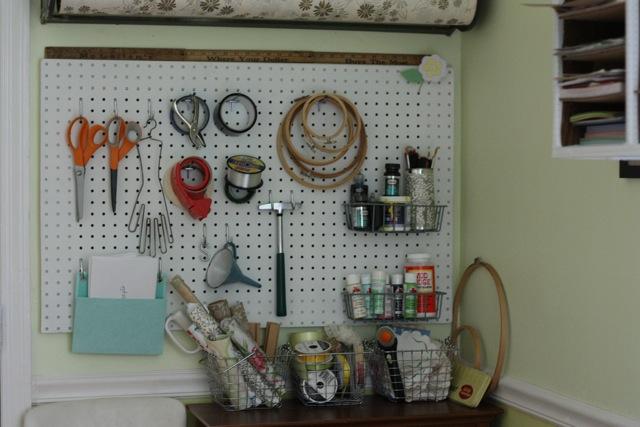 craft room pegboard