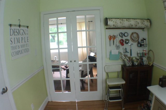 craft room/office French doors