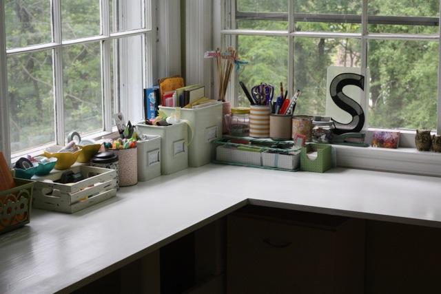 vintage office/craft room makeover