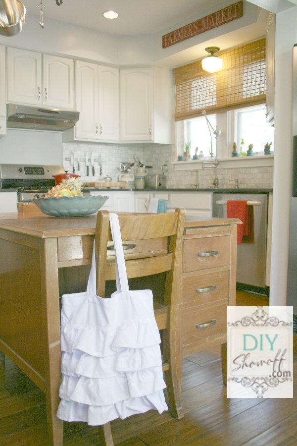 desks as a kitchen island