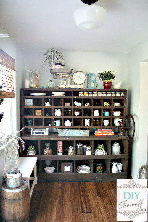 mail sorter, butler's pantry