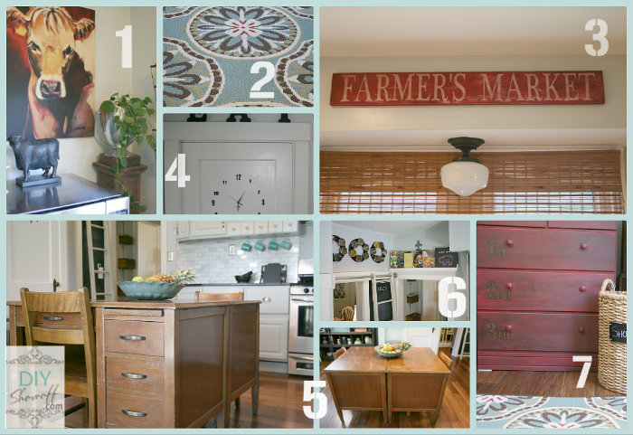 farmhouse kitchen collage
