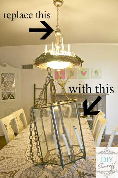 ... Fixture In The Dining Roomu2026 Thrift Store Chandelier