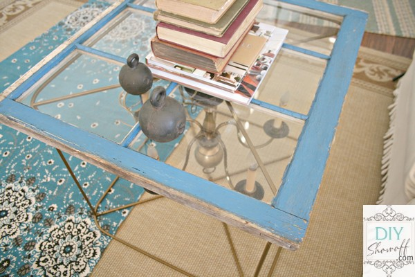 DIY upcycled side table