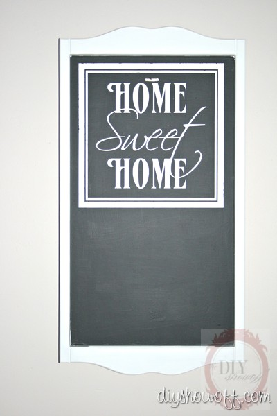 Home Sweet Home DIY chalkboard