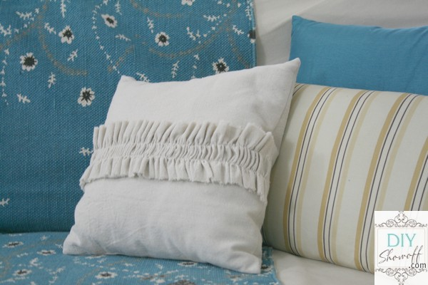 drop cloth pillow