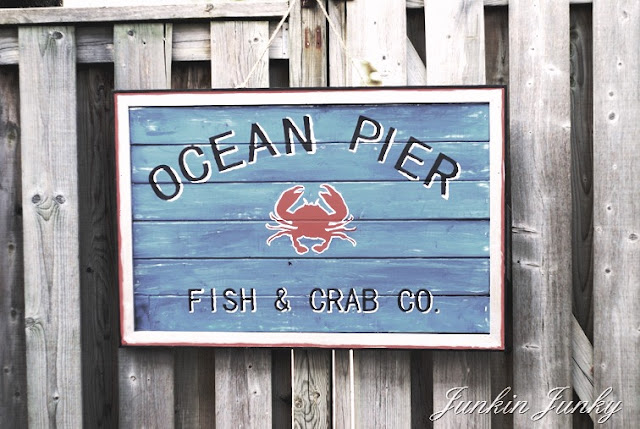 DIY Ocean Pier sign