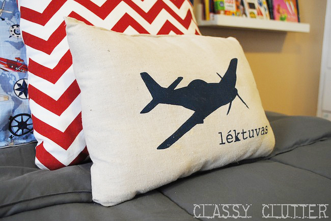 boys airplane bedroom makeover