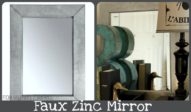 faux zinc mirror tutorial