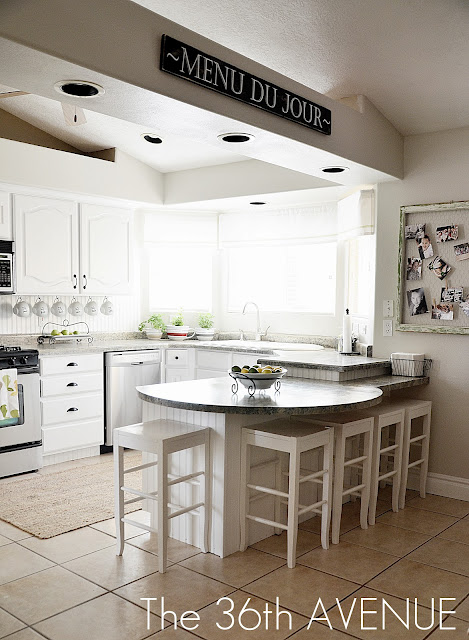 white kitchen before/after