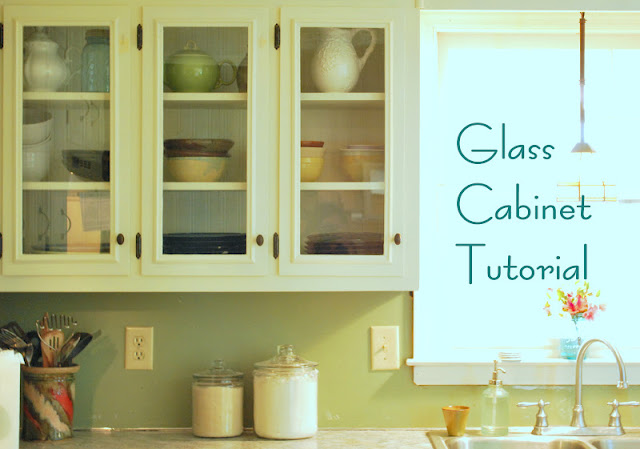 DIY glass cabinets