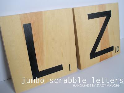 DIY jumbo scrabble letters