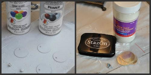 DIY enamel tag supplies