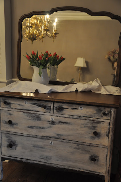 painted distressed dresser