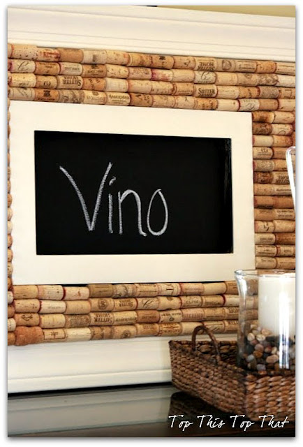 wine cork board chalkboard