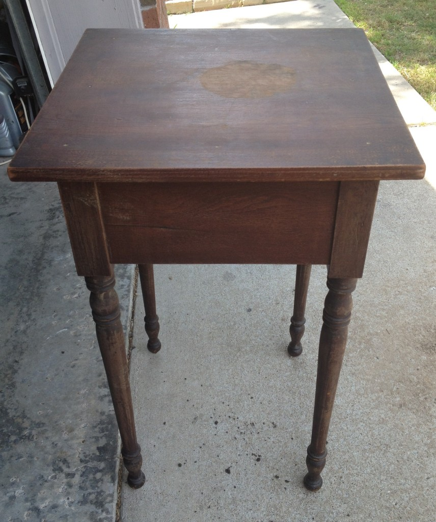 accent table before and after