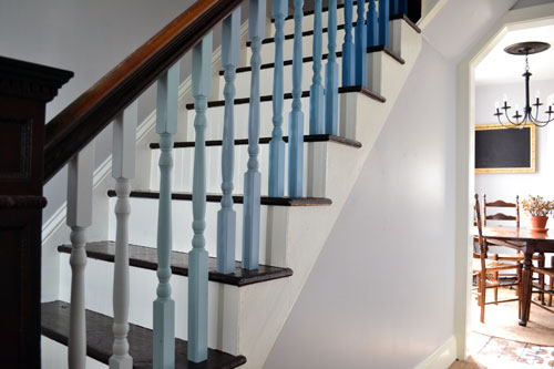DIY Ombre Balusters
