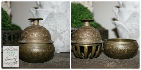 vintage brass elephant bell