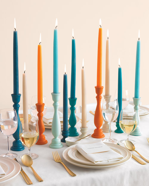 colorful candlesticks