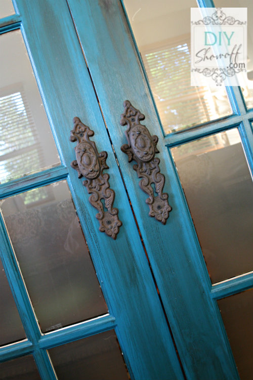 Benjamin Moore Peacock - French Doors