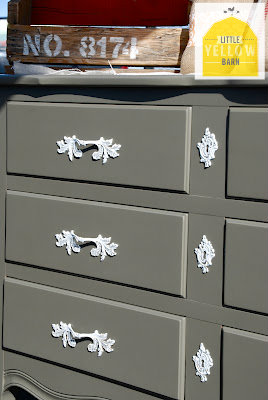 DIY gray painted dresser