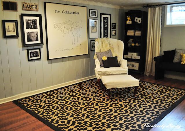 DIY stenciled area rug