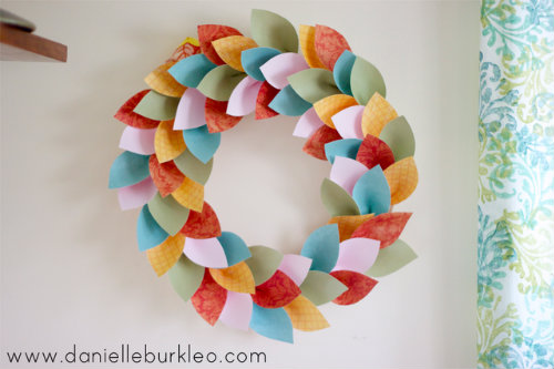 paper leaves wreath