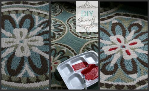 adding color to a rug