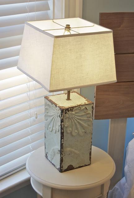 antique ceiling tin lamp