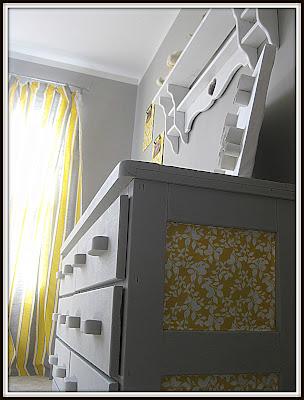 DIY dresser and shelf makeover