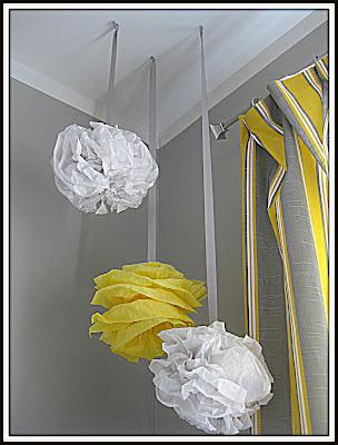 tissue paper poufs