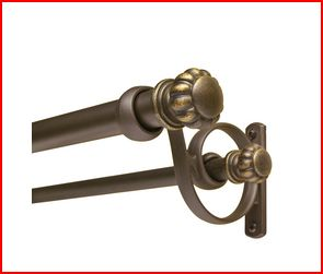 double curtain rod to towel bar