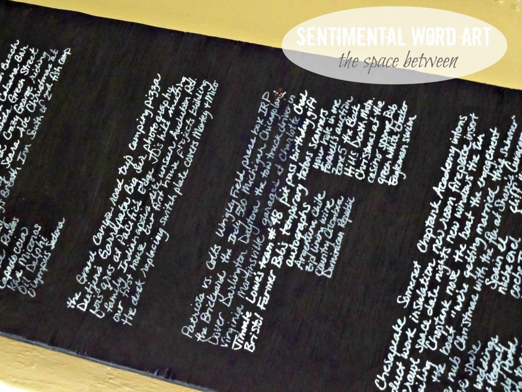 sentimental word art