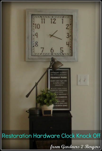 Restoration Hardware inspired clock