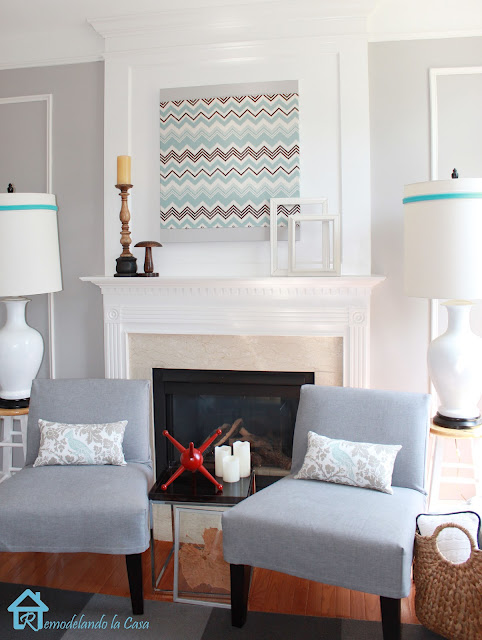 easy DIY canvas fabric art