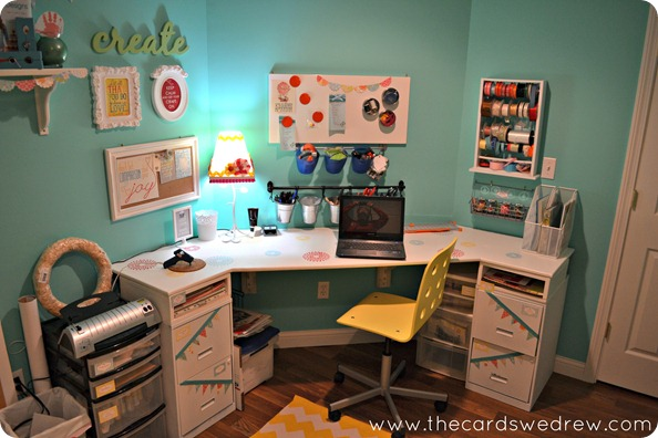 colorful craft room reveal