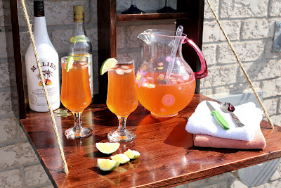DIY outdoor mini bar