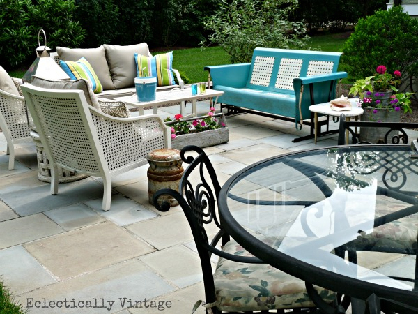 eclectic vintage patio reveal