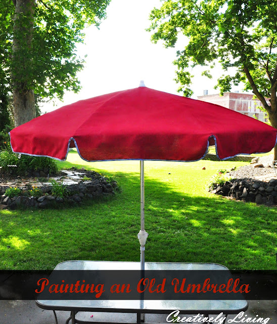 painting outdoor umbrella