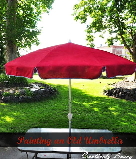 painting outdoor umbrella
