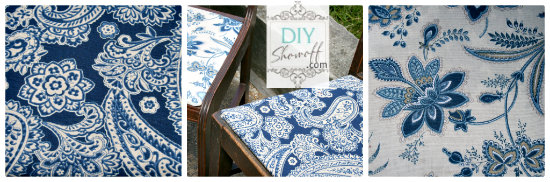 dining room chair seat makeover
