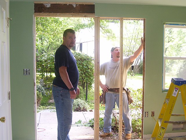 kitchen French door installation