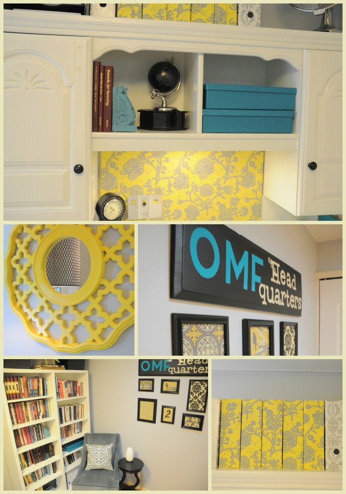 yellow and gray office reveal
